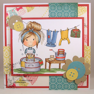 Heather Huggins - The Paper Nest Dolls - Washboard Ellie Card Kit