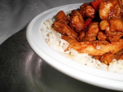 POLLO CON SALSA HOISIN la cocinera novata receta plato cocina gastronomia china aves