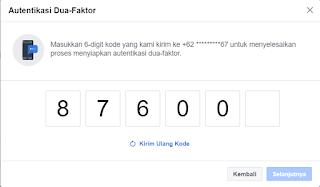 Cara Mengaktifkan Fitur Kode Autentikasi di Facebook