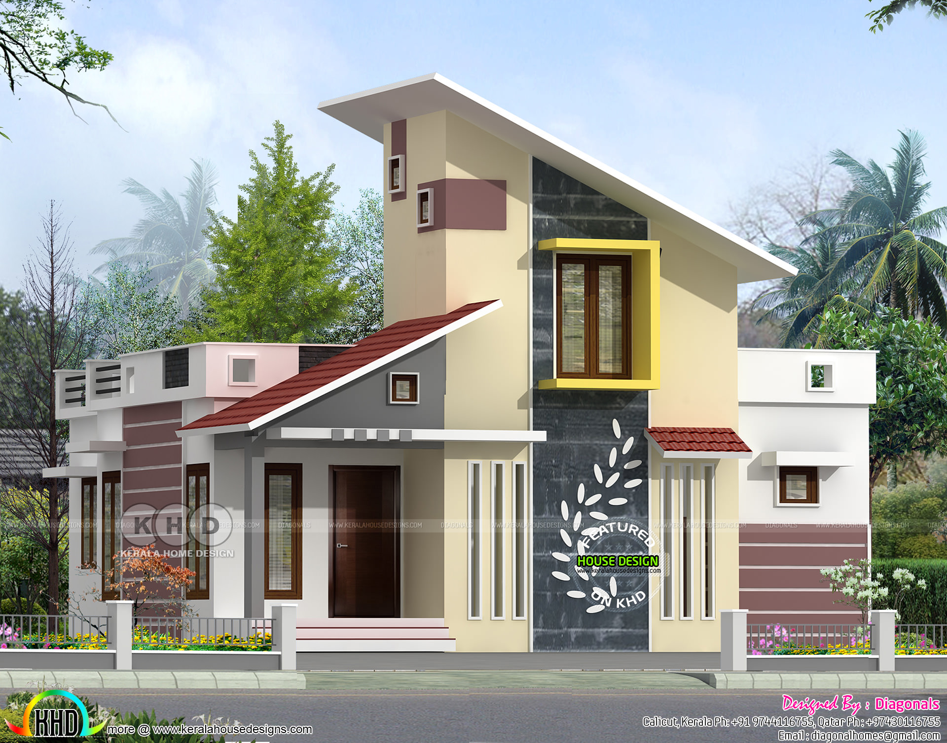 Modern Single Floor 3 Bhk Home 1200 Sq Ft Kerala Home
