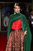 Manchu Lakshmi in a Strange Green Saree at 64th Jio Filmfare Awards South ~  Exclusive 005.JPG