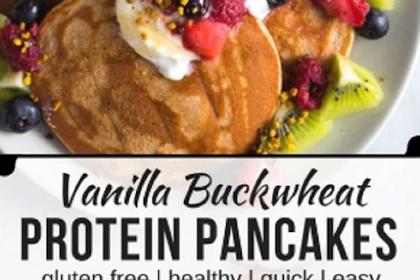 Vanilla Buckwheat Protein Pancakes