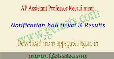 AP Assistant professor notification 2018,AP Assistant professor recruitment 2018, ap asst prof recruitment notification 2018