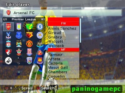Option File PES 6 2016-2017: Premier League, Serie A, Bundesliga, La Liga, & UEFA Champions League