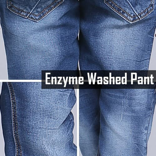 Enzyme washed pant