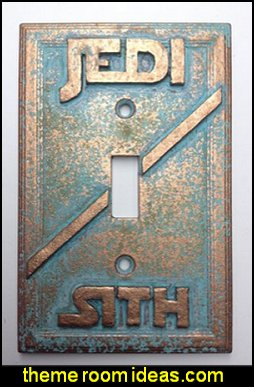 Star Wars Jedi Sith Light Switch Cover  patina
