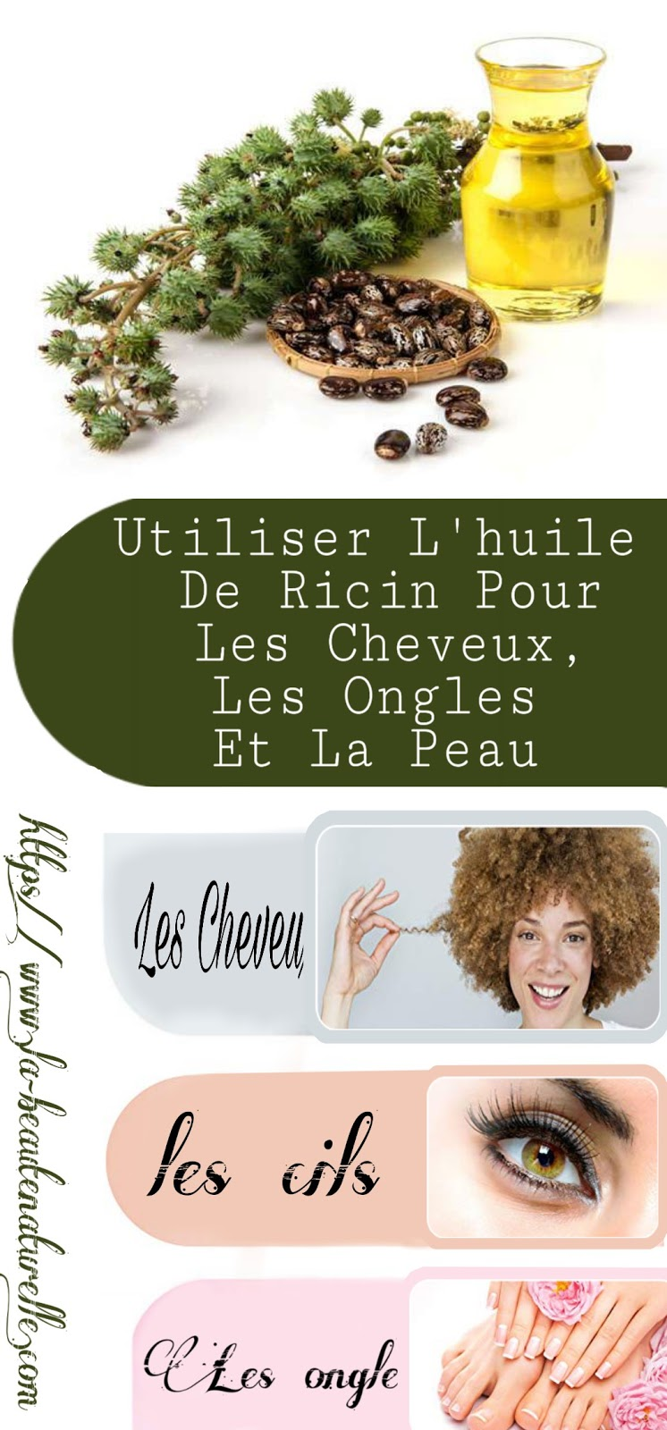Utiliser L'huile De Ricin Pour Les Cheveux, Les Ongles Et La Peau