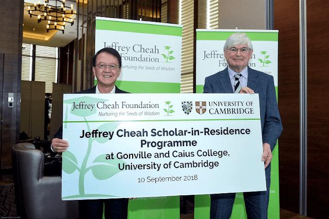 Jeffrey Cheah Scholar-in-Residence Programme, Cambridge University,