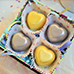 Gold and Silver Heart Shape Wasabi White Chocolate Truffles