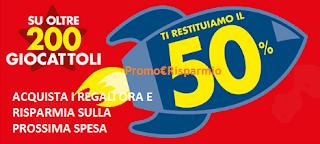 Logo Bennet: Spendi e Riprendi il 50% sui Giocattoli