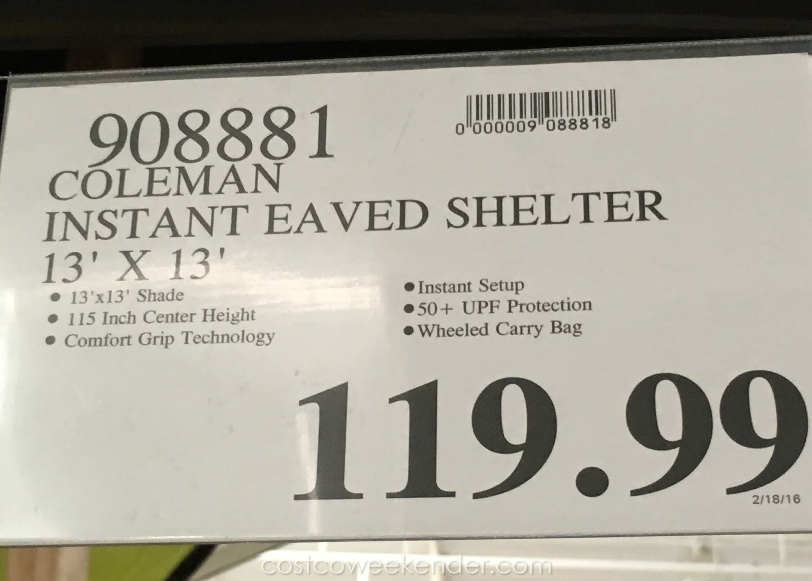 Deal for the Coleman Instant Eaved Shelter at Costco & Coleman Instant Eaved Shelter | Costco Weekender