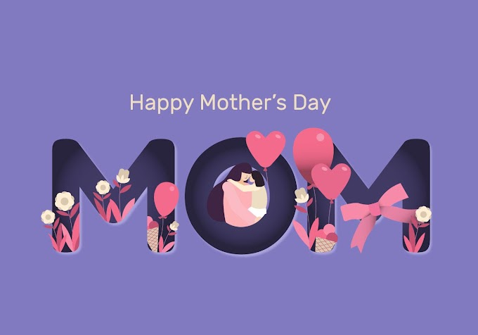 Mother's Day Papercut Vector Flat Illustration