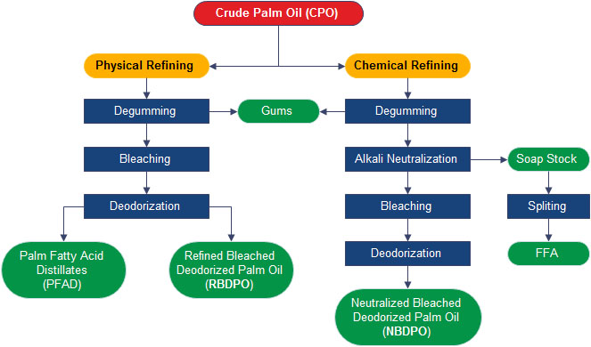 bleaching of crude palm oil