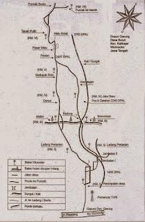 peta jalur gunung sumbing via kledung