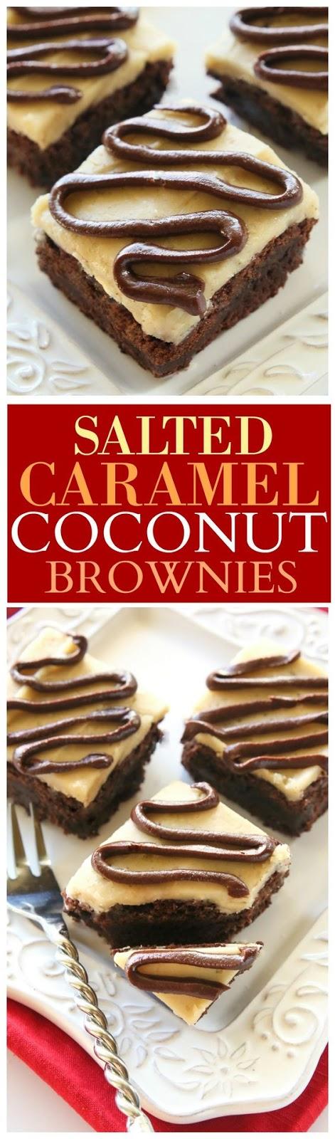 Salted Caramel Coconut Brownies