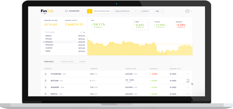 ICO Fintab - Accounting System Untuk Portofolio Cryptocurrency