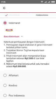 belanja online bayar di alfamart
