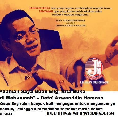 DAP Tahu New-Hero Perpaduan Melayu-Islam Dato' Azwanddin Hamzah Mampu Satukan Kekuatan Melayu Via JMM