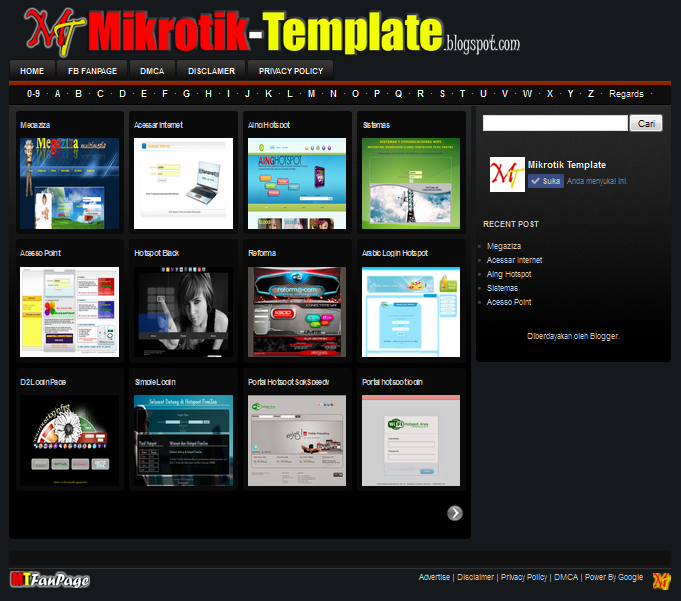 Mikrotik Template | Free Download Login Page Hotspot