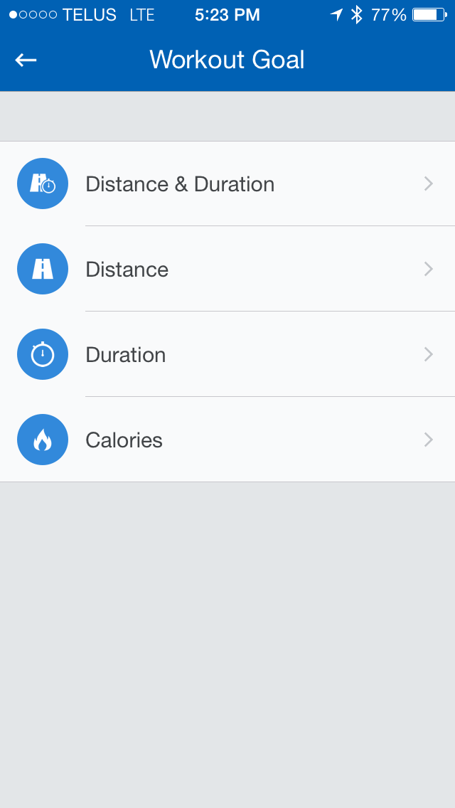 Image for Runtastic Workout Goals