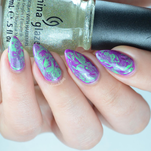 purple green marble