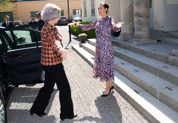 Crown Princess Victoria wore &Other Stories floral print maxi dress. Queen Sofia of Spain and Princess Takamado of Japan