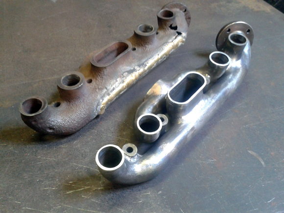 DBT Engineering: Steel fabricated inlet and exhaust manifold