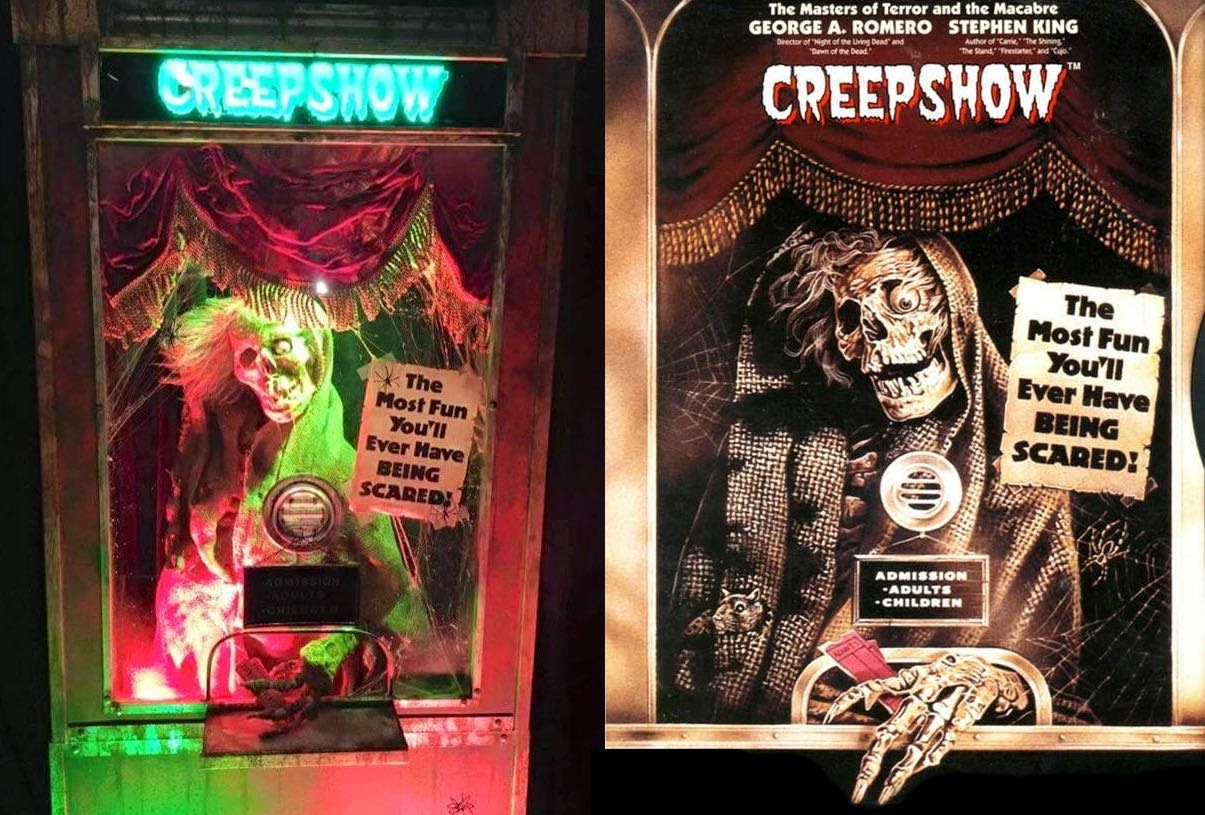 the horrors of it all creepshow ticket booth display