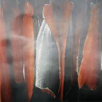 Füme somon balık eti