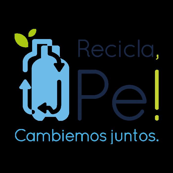 Logo RECICLA PE - Auspiciador III Congreso Internacional de la Industria Plástica, Lima, Perú, abril 2020