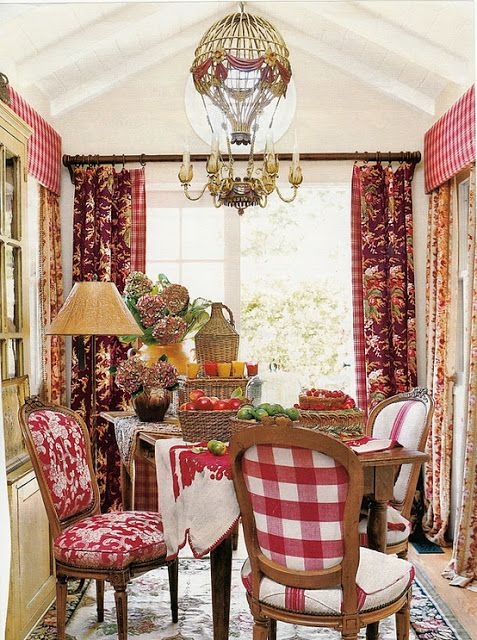 French Country Dining Room Curtains