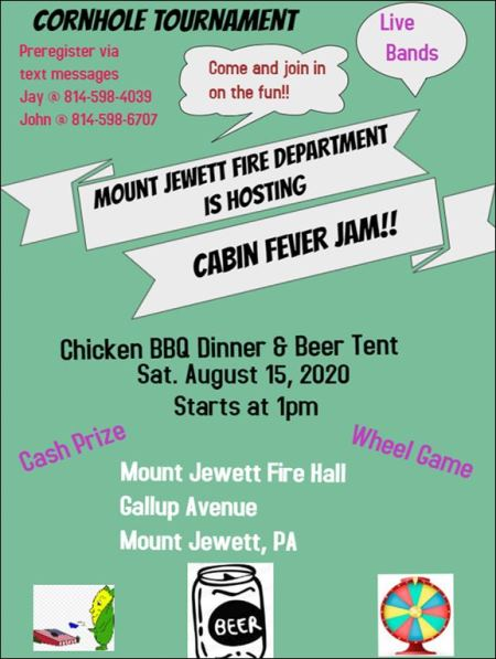 8-15 Mt Jewett Fire Dept. Cabin Fever Jam