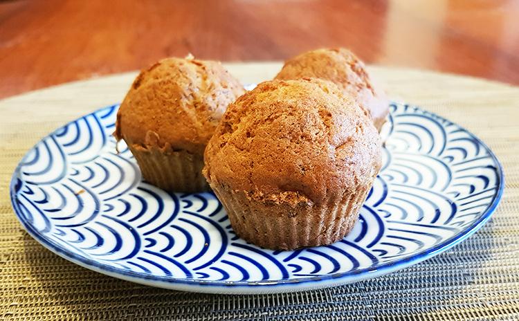 Les muffins à la banane sont prêts