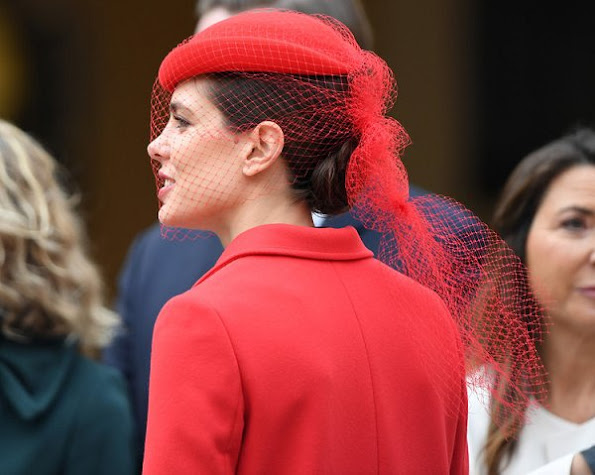 Princess Charlene, Princess Caroline of Hanover, Princess Stephanie, Princess Alexandra, Louis Ducruet, Andrea Casiraghi, his daughter India, Tatiana Santo Domingo, Sacha Casiraghi, Charlotte Casiraghi, Pierre Casiraghi and Beatrice Borromeo