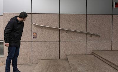 instalación, barandilla, accesibilidad, escaleras