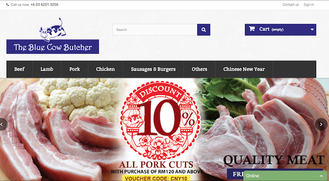 www.bluecowbutcher.com , check out their clean, simple website