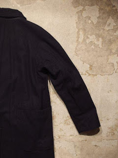 "Engineered Garments ""Reversible Coat in Dk.Navy 20oz Melton/Nyco Ripstop"""