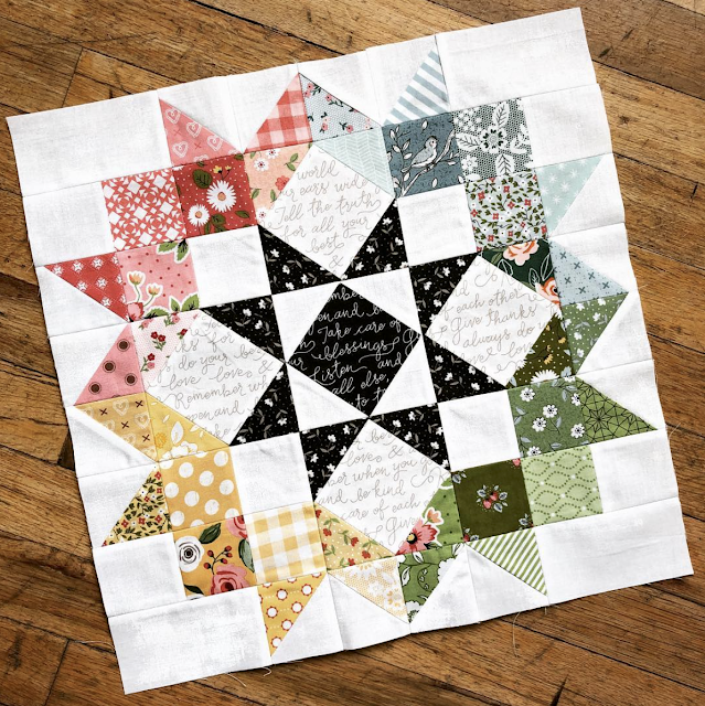 Moda Love Quilt Along and Coloring Page