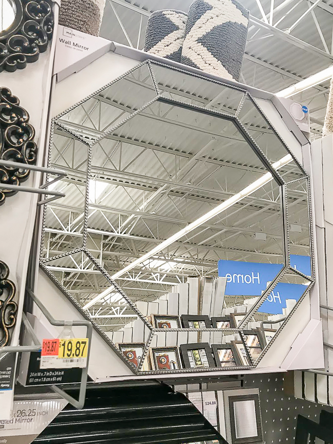 stylish wall mirror from Walmart
