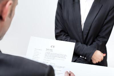 CV en entrevista de trabajo