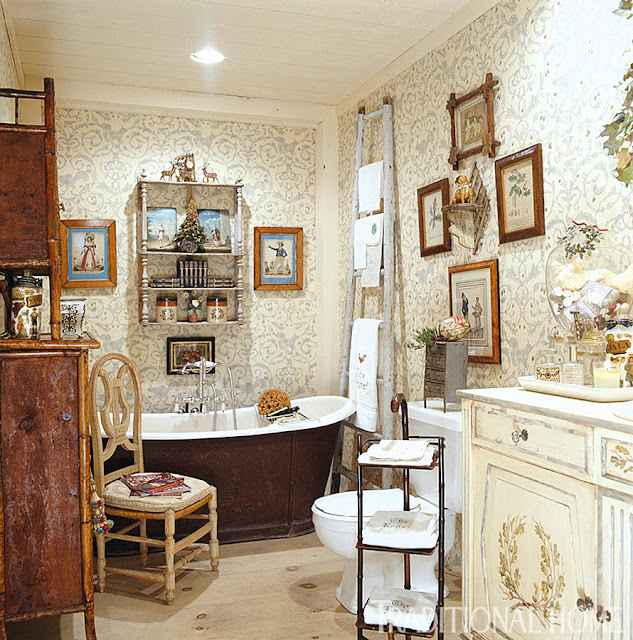 Country French Bathrooms: Hydrangea Hill Cottage: French Country Decorating