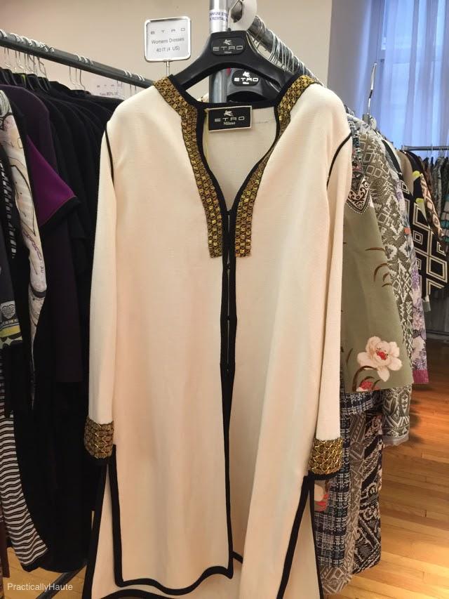 Etro sample sale white gold tunic