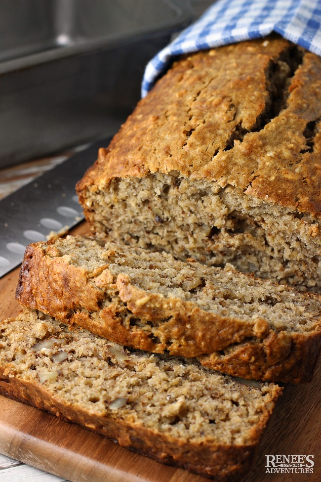 Easy Banana Oatmeal Bread | Renee's Kitchen Adventures