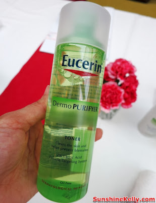 skincare, eucerin, pimples oily combination skin, review, Eucerin DermoPURIFYER Facial Tonic