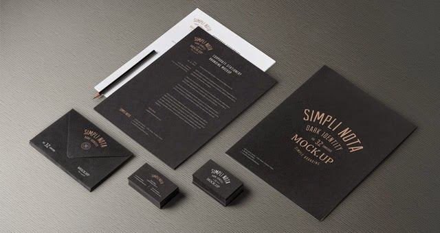 Stationery Branding Mock Up PSD