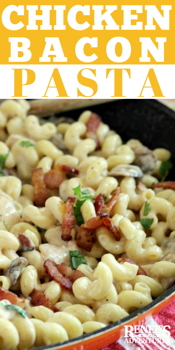 chicken Bacon pasta pin for Pinterest