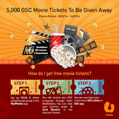 U Prepaid Mobile Free GSC Movie Ticket