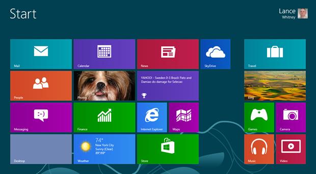ويندوز تستخدم التصاميم المسطحة في ويندوز 8