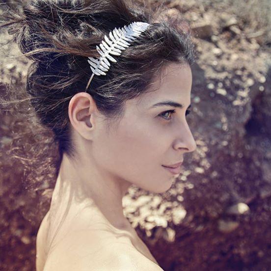 Thallo - bijuterii grecesti din frunze naturale coronita mireasa