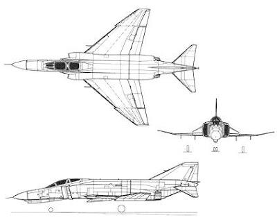 McDonnell Douglas F-4 Phantom II taslak.